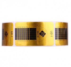 Sabloane pentru constructie unghii Dreptunghiulare Aurii 500buc U2-1