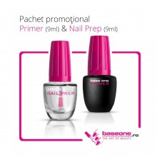 Pachet Promotional Primer Base One 9ml+Nail Prep 9ml