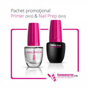 Pachet Promotional Primer Base One 9ml+Nail Prep 9ml