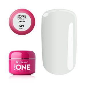 Gel UV Color Base One Silcare Neon White 01