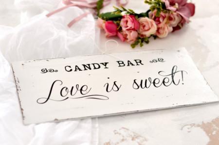 "Placuta decorativa   Candy Bar ""Love is sweet"""