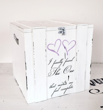 Cutie/cufar pentru bani/dar nunta ''I finally found the one'' | Wedding money gift box
