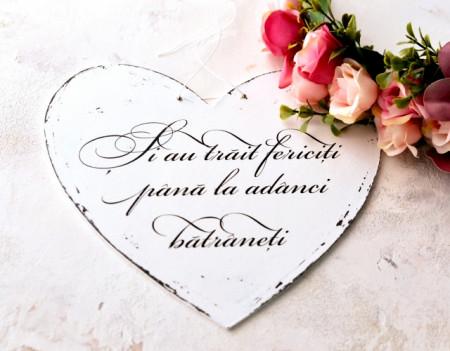 "Inimioara ""Si au trait fericiti""| Recuzita nunta"