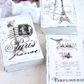Carti decorative Frenchic, cu trandafiri