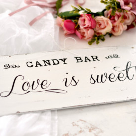 "Placuta decorativa | Candy Bar ""Love is sweet"""