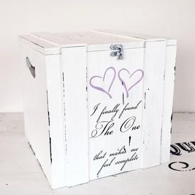 Cutie/cufar pentru bani/dar nunta ''I finally found the one'' | Wedding money gift box