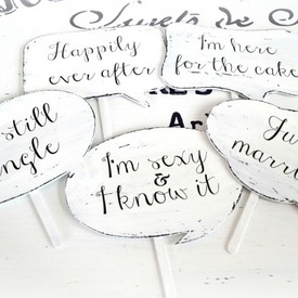 Set recuzita tablite cu mesaje ''Speech Bubbles"