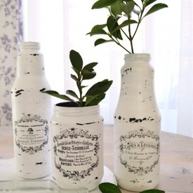 Vaze frantuzesti (inalte) Shabby French Jars | Shabby French Jars