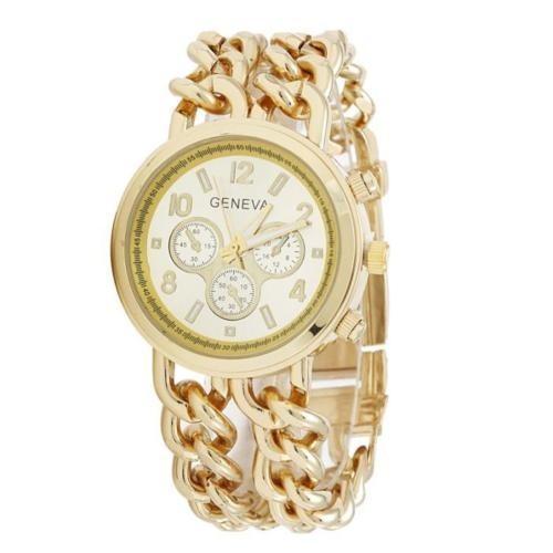 Ceas dama Geneva - Chain Style (Golden)