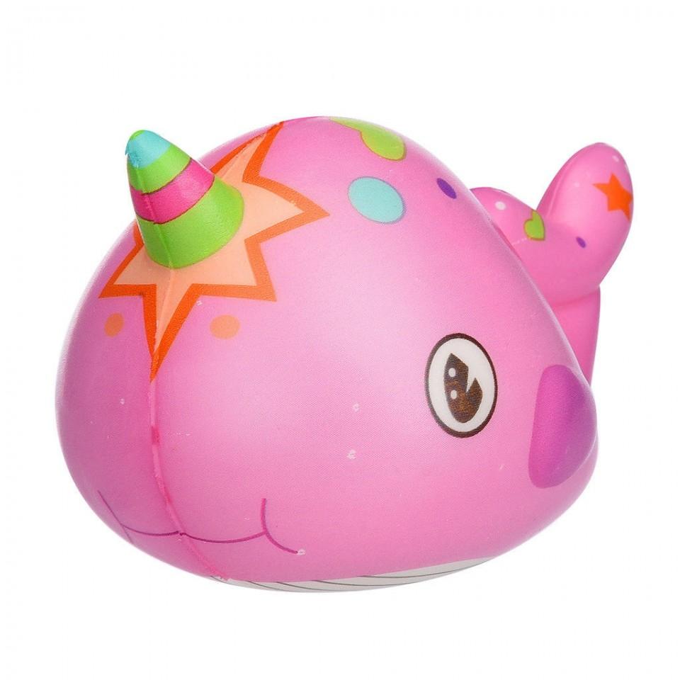 Jucarie Squishy parfumata, model balenuta - roz