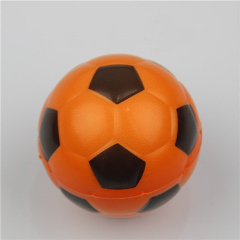 Jucarie Squishy ieftina, model minge de fotbal, orange