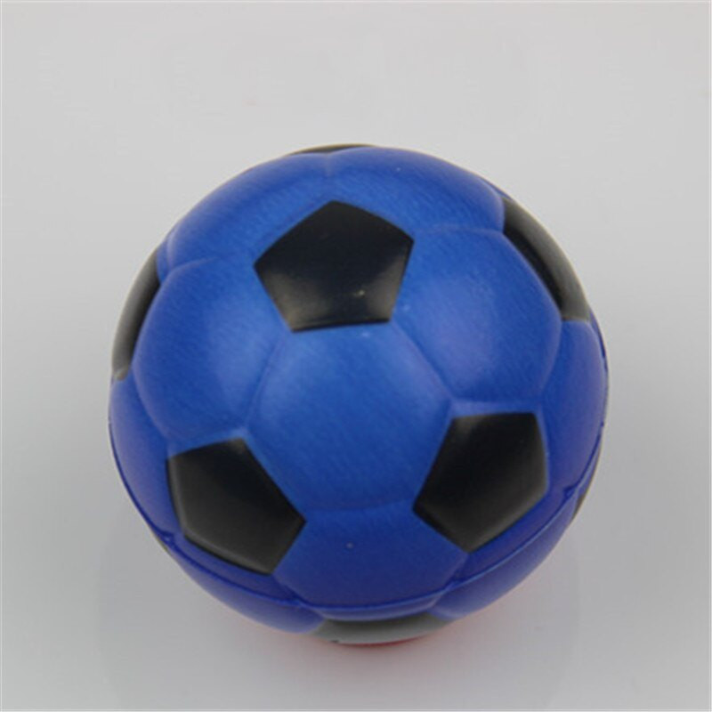 Jucarie Squishy ieftina, model minge de fotbal, albastra