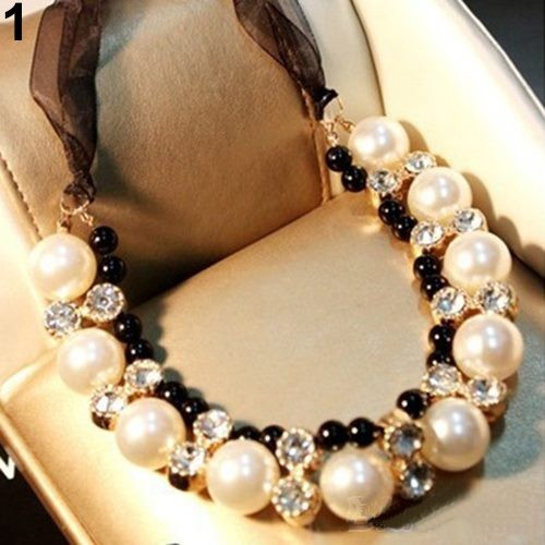 Colier fashion White & Black