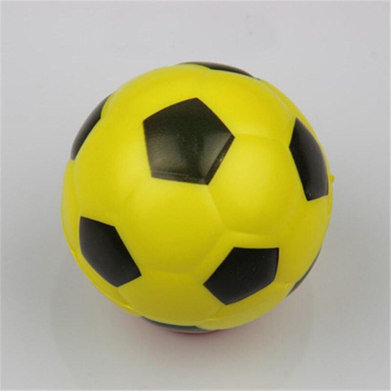 Jucarie Squishy ieftina, model minge de fotbal, galbena