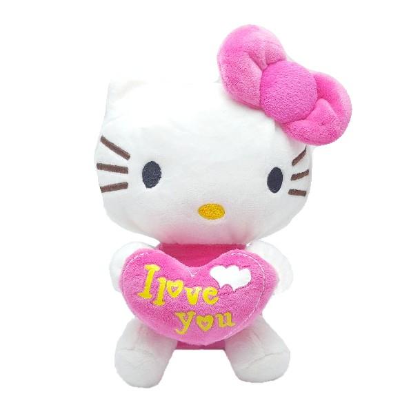 Figurina de plus, pisicuta cu inimioara si fundita - frez