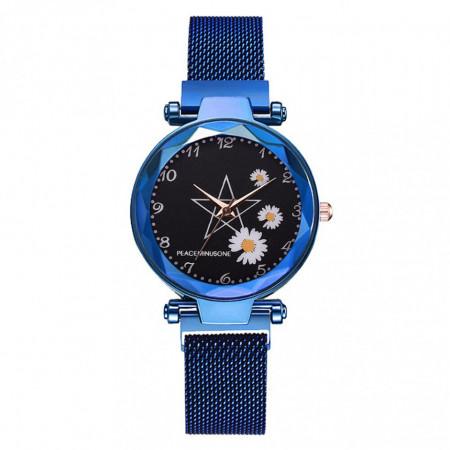 ceas dama cu bratara magnetica albastru