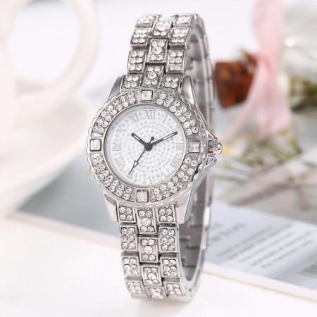 Poze Ceas dama Delicate Full Crystals - argintiu