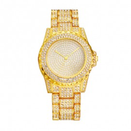 Ceas dama Luxury Full Crystals - golden - Model 1