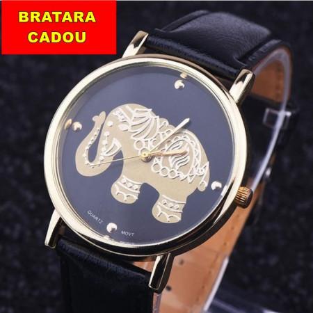 Poze Ceas dama model elefant auriu - negru
