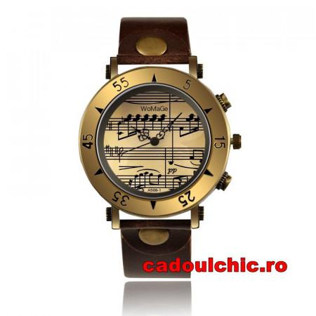 ceas dama vintage ieftin, model note muzicale