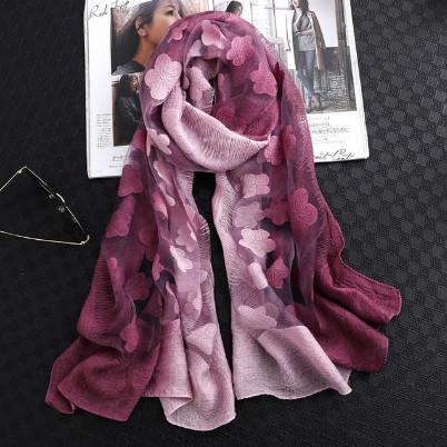 Poze Esarfa eleganta Matase Organza, culoare mov pal / purple
