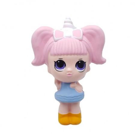 Poze Jucarie Squishy, fetita unicorn, pink