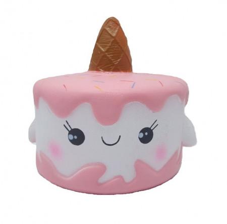 Poze Jucarie Squishy, model tortulet unicorn, roz