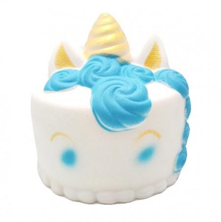 Poze Jucarie Squishy parfumata, Tort Unicorn - bleu