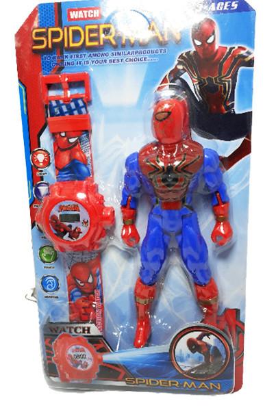 Poze Set Ceas cu proiectie si figurina Spider Man