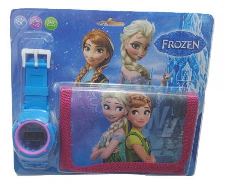 Poze Set Ceas pentru fetite cu portofel, tip Frozen, model 3