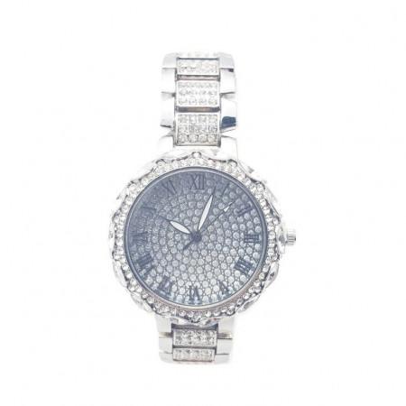 Poze Ceas dama elegant Full crystals - argintiu, cutie eleganta cadou