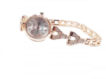 ceas dama finut cu cristale rose golden