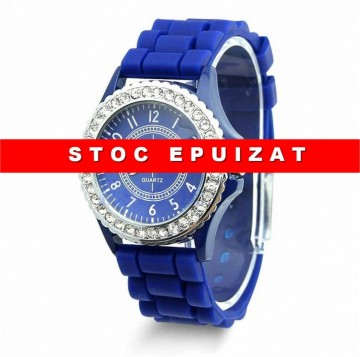 Ceas de dama Geneva cu cristale - Blue