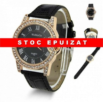 Poze ceas de dama Womage, cu cristale, elegant