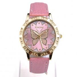 Poze Ceas fashion de dama cu fluture si cristale - roz