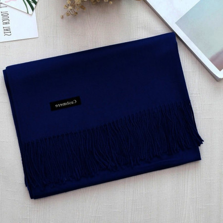 Poze Esarfa / fular casmir / cashmere, fina - navy blue