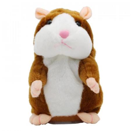 Poze Hamster de plus vorbitor, jucarie interactive, culoare coffee