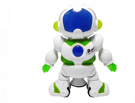 Poze Jucarie ieftina interaciva Robot cu miscare, sunete si lumini, rotire 360 grade, model 1