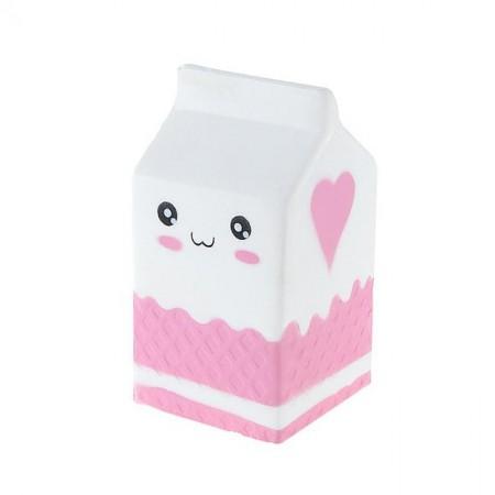 Jucarie Squishy parfumata, model cutie de lapte - frez