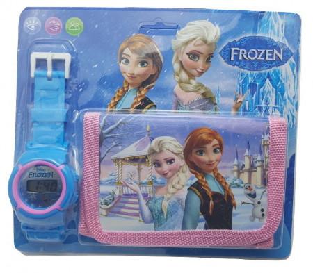 Poze Set Ceas pentru fetite cu portofel, tip Frozen, model 1