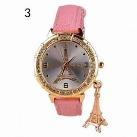 Poze Ceas dama elegant cu cristale si pandant - originalitate si stil - roz