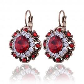 Poze Eleganti cercei cu cristale - red & white