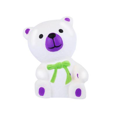Poze Jucarie Squishy parfumata model ursulet cu fular