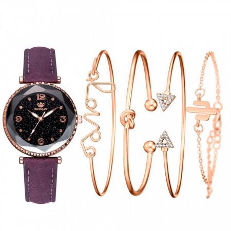 set elegant ceas si 4 bratari