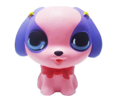 Poze Squishy Jumbo ieftina model Little Cute Puppy, roz
