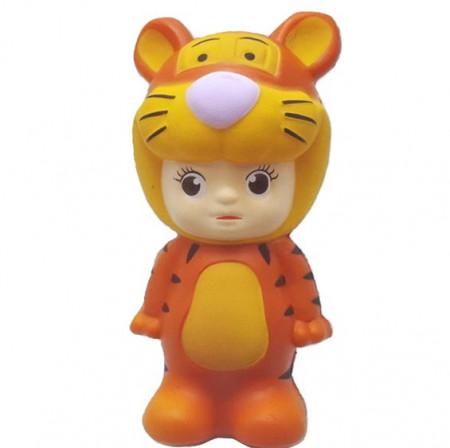 Poze Squishy jumbo, jucarie parfumata, model baietelul tigrisor