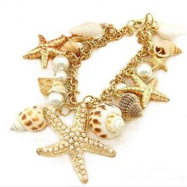 Poze Bratara Summer Feaver Charming Gold Plated