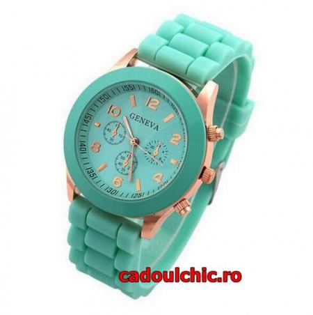ceas silicon de dama, verde