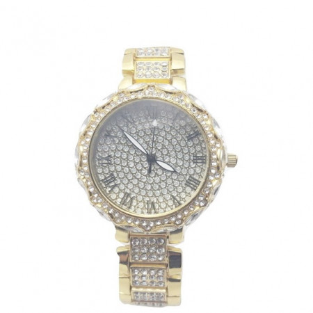 Poze Ceas dama elegant Full crystals - golden, cutie eleganta cadou