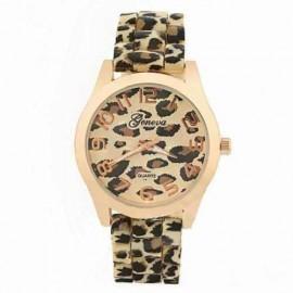 Ceas dama Geneva, model leopard, pe auriu